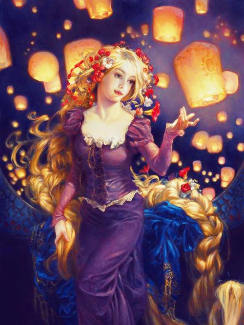 Tangled Art By Heather Theurer Disney