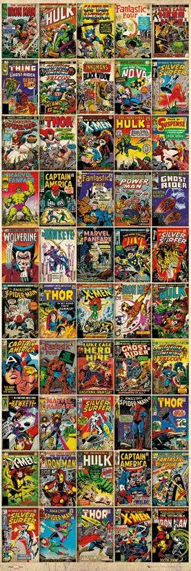 Behangrol - Voor exclusief behang en wanddecoratie - Marvel Comic - Covers
