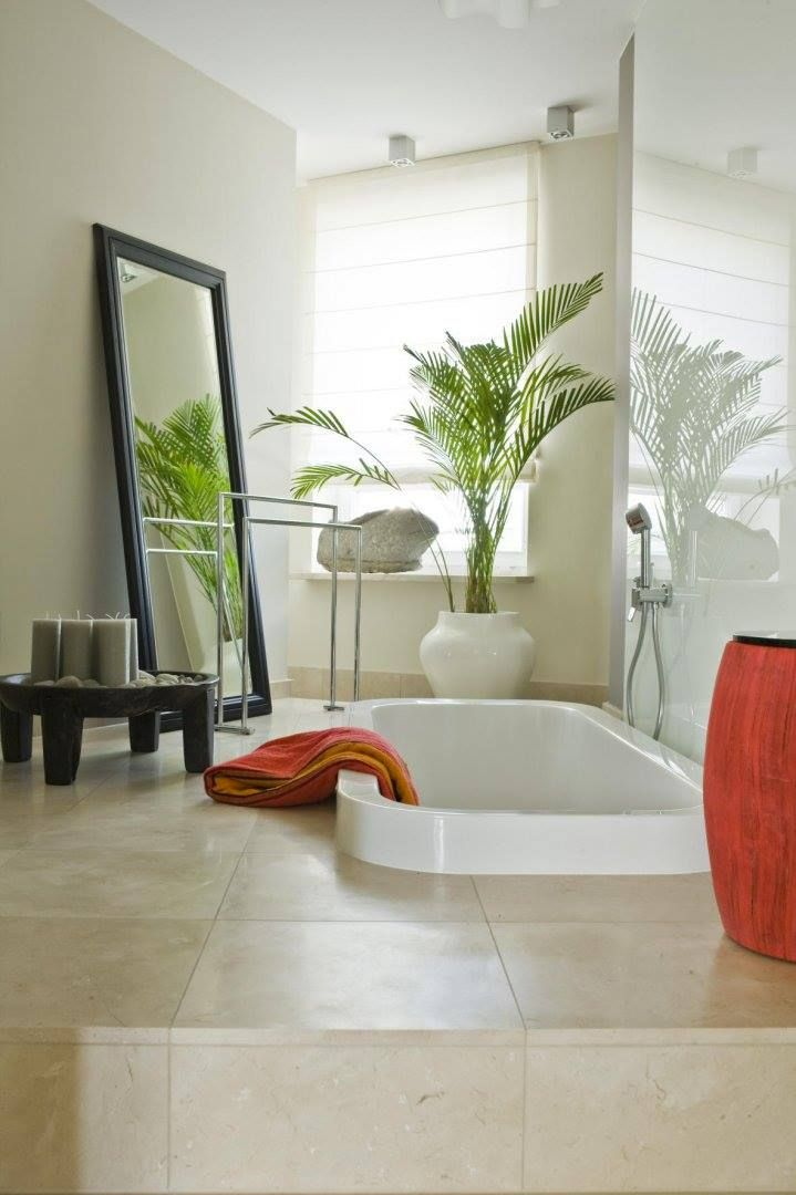 Mirror available at MOOD showroom, Warsaw. Bathroom designed by Warsaw based studio Mood Works-Karina Snuszka and Dorota Kuć. #mood #moodworks #mirror #largemirror #beautifulbathroom #standingmirror