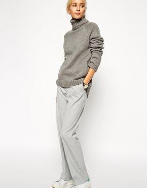 Agrandir ASOS WHITE - Pantalon large coupe masculine