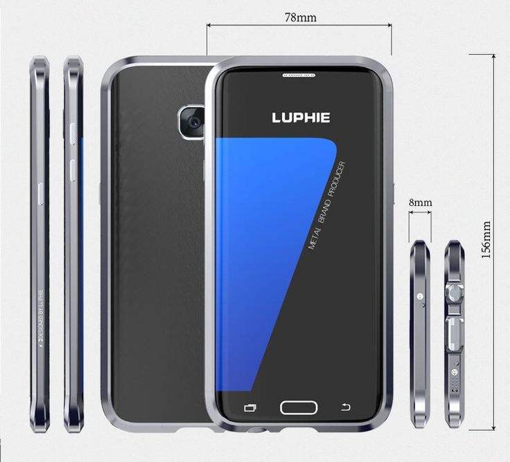 Luphie Shockproof Anti-knock Metal Frame + Leather Sticker Cover Case For Samsung Galaxy S7 Edge