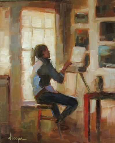The Painter, painting by artist Dana Cooper