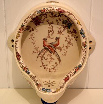 Victorian Polychromatic Urinal c.1890  - Is it weird to fall in love with an antique urinal?