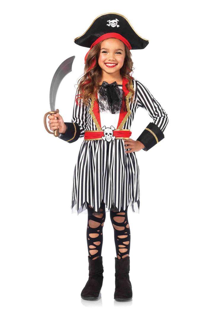 Girl's 2PC.Pirate Captain Costume