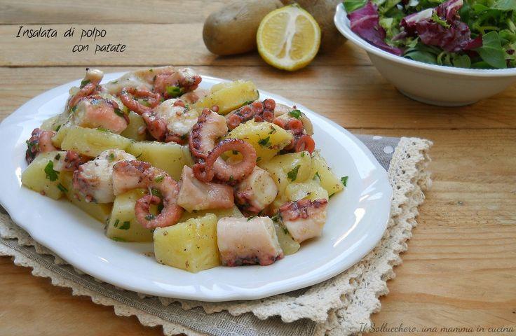 INSALATA DI POLPO E PATATE, un piatto gustoso perfetto per l'estate con consigli per una perfetta cottura http://blog.giallozafferano.it/simona68/insalata-di-polpo-e-patate/