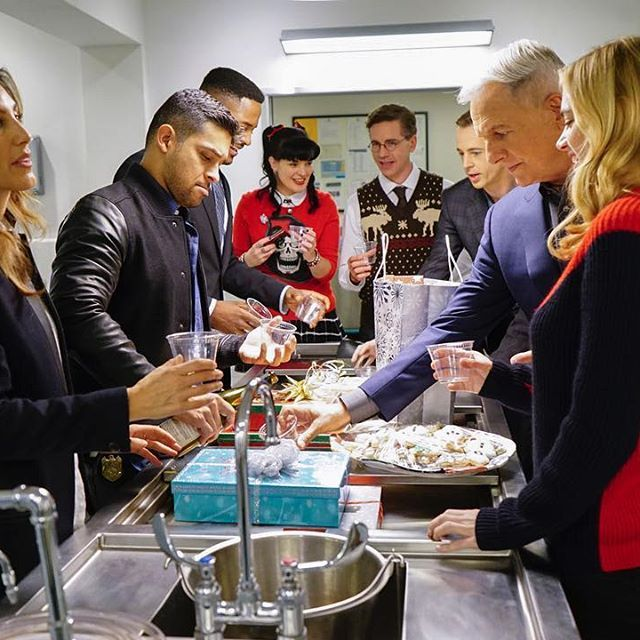 Ain't no party like an NCIS party....in autopsy!!! Don't miss #ncis's holidays party tonight!!!