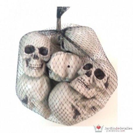 Bolsa de calaveras de plástico para decorar la noche de Halloween. #DecoracionHalloween #Halloween #Decoracion