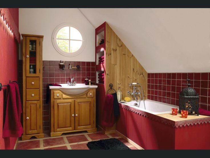 242 best Salle de bain images on Pinterest Bathroom, Bathrooms and - salle de bain rouge et beige