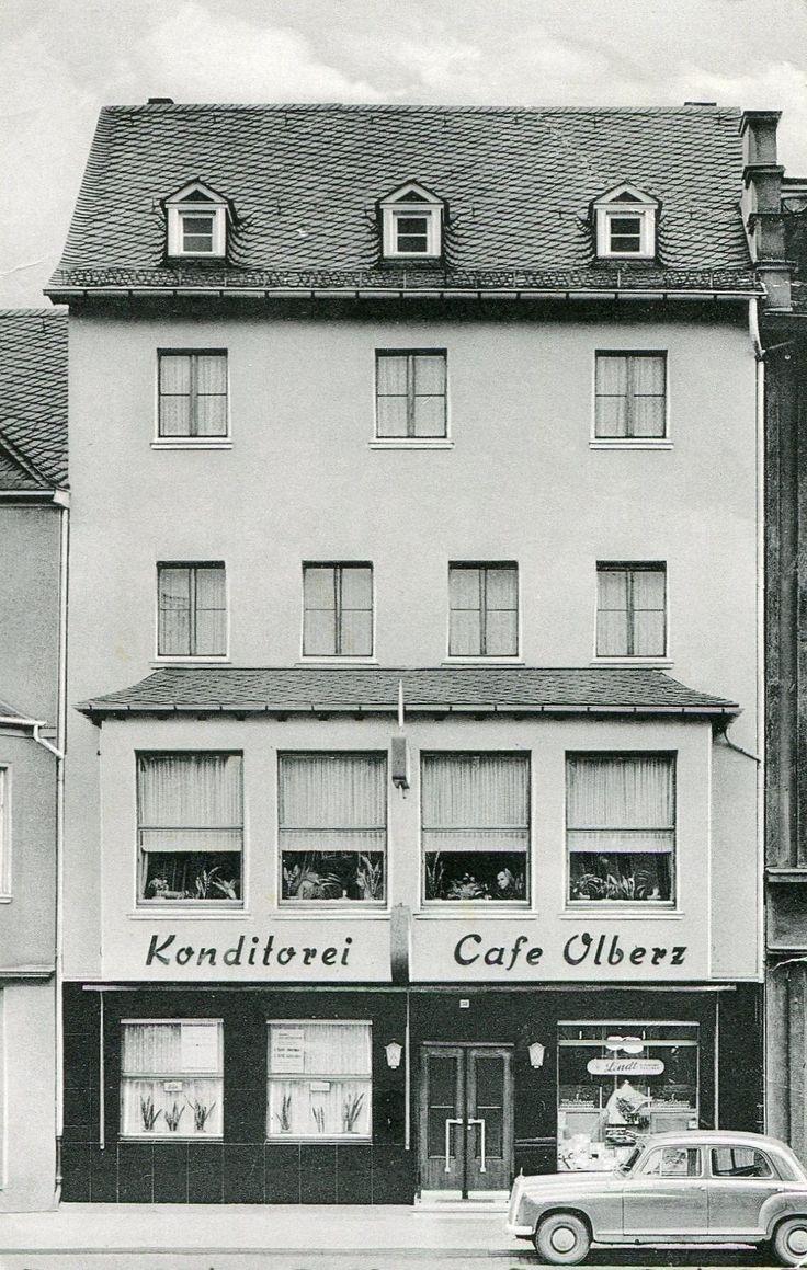 Konitorei und Café Paul Olberz ca. 1955 - zwei Stockwerke wuren aufgesetzt - später Meier - später Schuhhaus