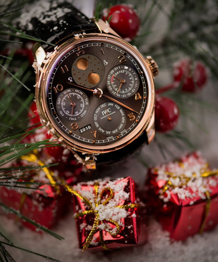 Ready for the Holiday Season with the IWC Portugieser Perpetual Calendar. Add it to your wish list!  Photo by: Roberto Iván Cano