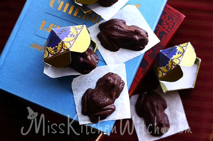 Mr. & Mrs. Flume's Magical Chocolate Frogs - Vegan Harry Potter Recipes via http://MissKitchenWitch.com