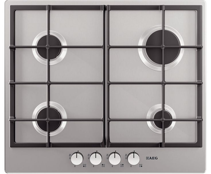 AEG Competence HG654320NM 59cm Gas Hob - Stainless Steel