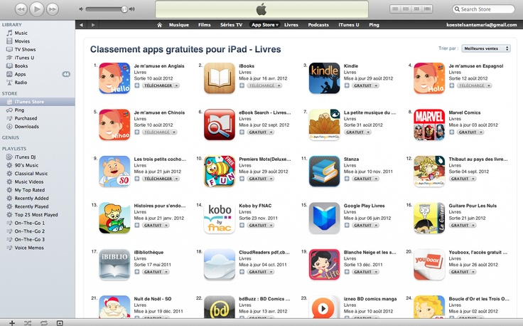 """""""Je m'amuse en Anglais"""", #1 iPad app in France in free books category"""