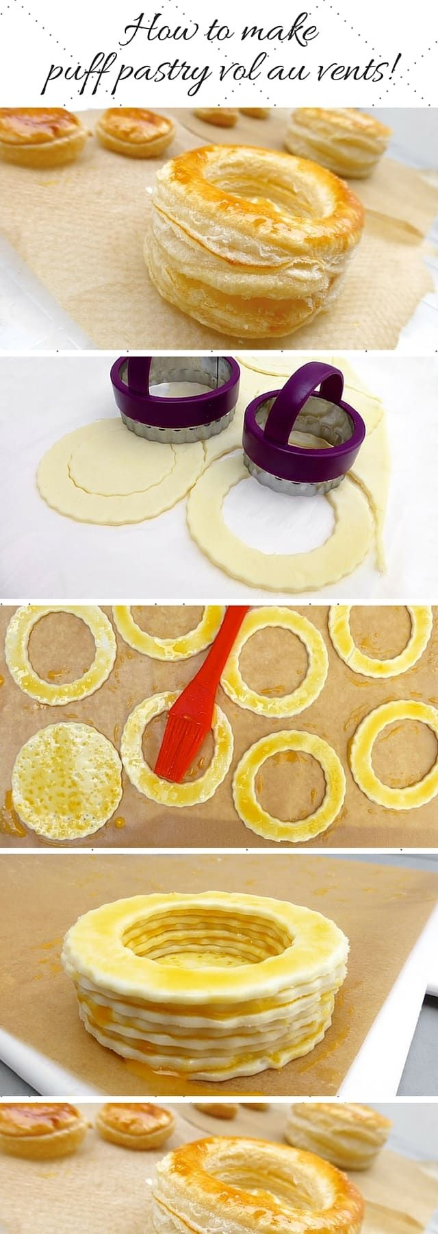 How to make vol au vents puff pastry cups: a step-by-step picture guide!