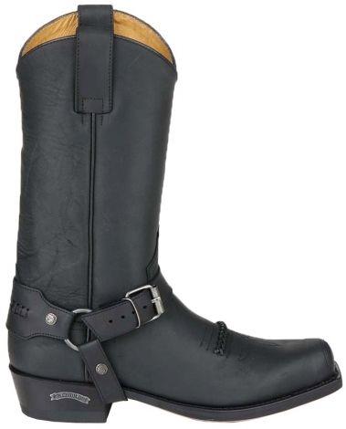 Description: Sendra Boots - 6354 Sendra westernlaars van leder. De voet van de laars heeft sierstiksels en een gevlochten accent. Deze stoere cowboylaarzen hebben afneembare sporen zijn goodyear genaaid en natuurlijk met lederen zolen.  Price: 219.95  Meer informatie  Zwarte Sendra Boots unisex western