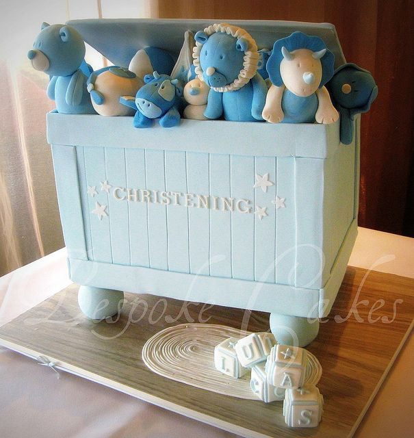 Christening cake by Bespoke Cakes, via Flickr