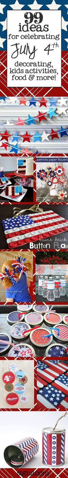 Check out these awesome 4th of July ideas for decorations, kids activities, and recipes #4thofjuly   www.signs.com