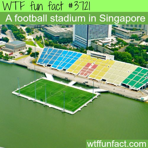An amazing football stadium in Singapore - WTF fun facts