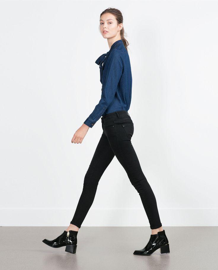 FIGURSCHMEICHELNDE DENIMHOSE - Jeans - DAMEN | Zara Deutschland
