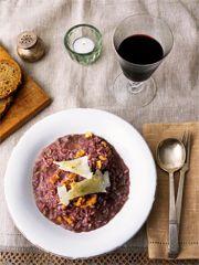 Sophie Wright: Rotweinrisotto mit Gorgonzola und Orangen Home at 7 Dinner at 8