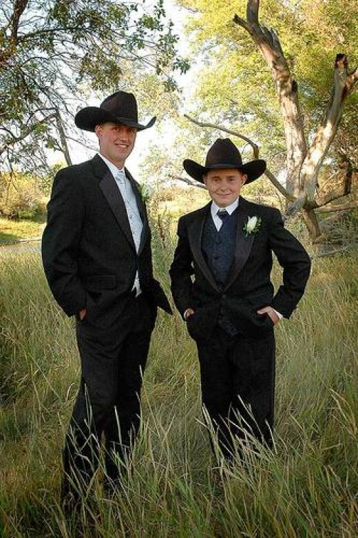 Western Cowboy Weddings Dresses | best dressed cowboys look in the proper country & western wedding ...