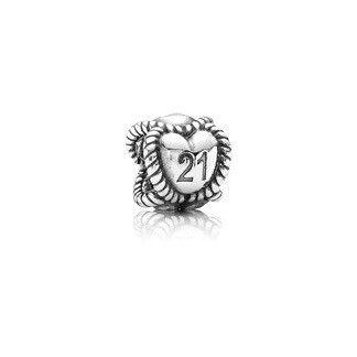 Cheap Pandora Sterling Silver Birthday Milestone 21 Charm
