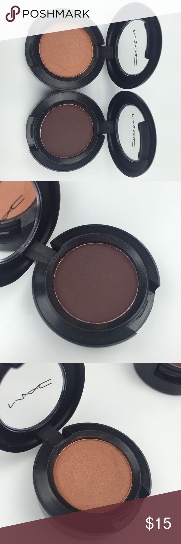 2pc MAC Eye Shadows 2 GENTLY USED MAC eyeshadow in the colors Texture (velvet) and Embark (matte). Original boxes not included. ALL USED MAKEUP IS SANITIZED BEFORE SHIPPED! MAC Cosmetics Makeup Eyeshadow