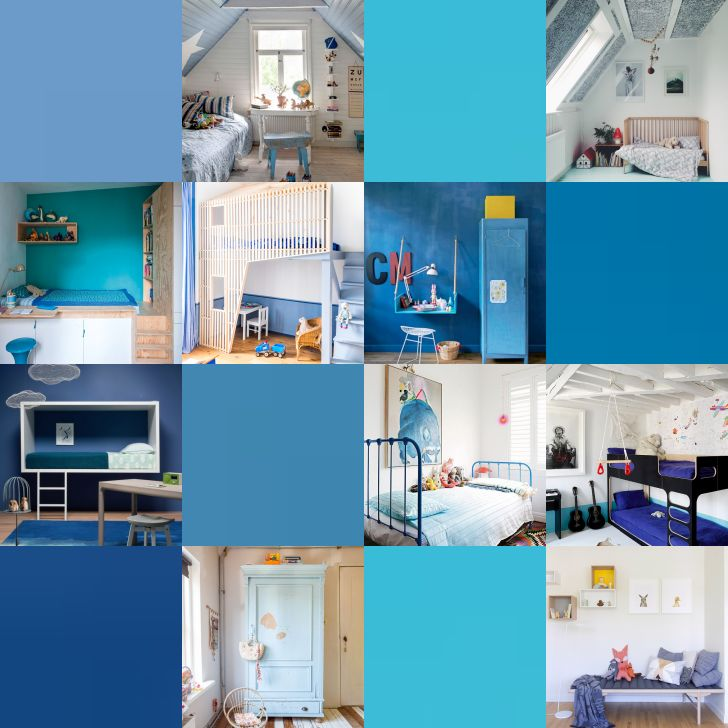 Blue is always a good idea for a kids room or any space of your house - home decor.