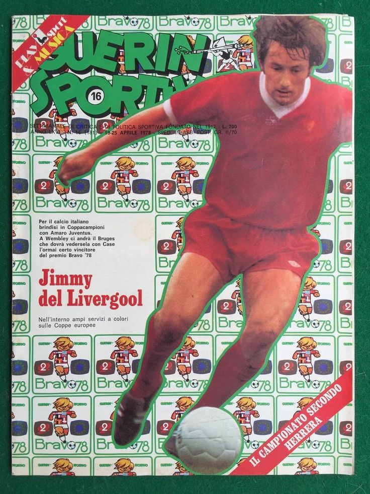 GUERIN SPORTIVO 1978 n 16 , JIMMY CASE LIVERPOOL LE 3 FINALI EUROPEE RAY CHARLES