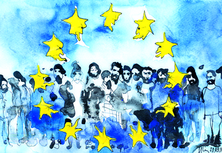 Ilian Savkov (2015-09-23) The EU familly scandal EU member countries can't reach consensus on the refugee crisis and turn hostile to each other