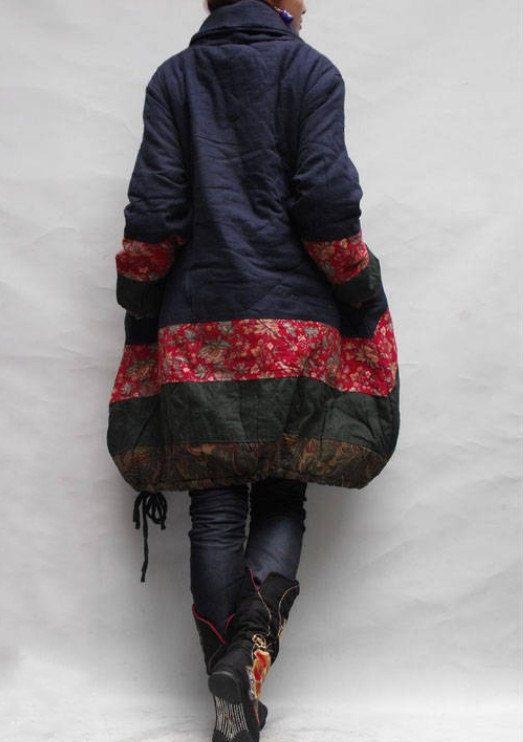 Cappotto di inverno sciolto imbottito / babydoll lino di MaLieb