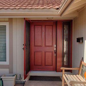 Fiberglass Exterior Door With One Sidelight