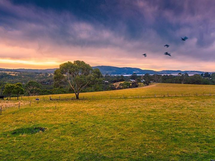 Sunrise over the Huon Valley south of Hobart. It's always good to get out of Hobart for the day and head down here. Image sent in by Benjamin Alldridge https://instagram.com/p/Bbc_eEkn51D/