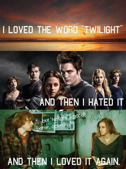 twilight versus harry potter Well i haven't seen twilightbut still from what i have heard i would suggest you harry potter (spoilers alert ) harry potter harry potter shows friendship,courage,love of a mother,and how harry is ready to give his life for a better world.