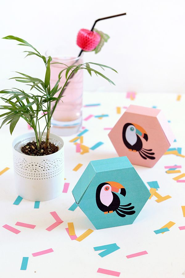 DIY | Printable toucan gift boxes