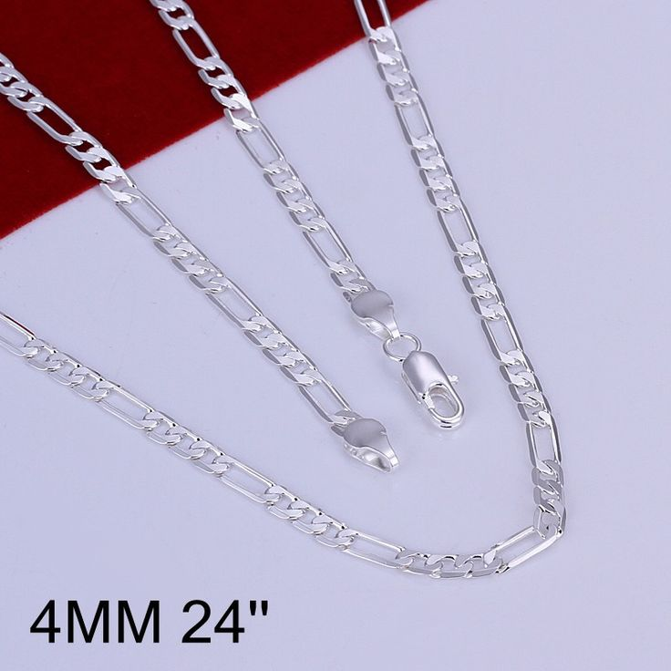 2016 brand Fashion Men Jewelry Necklaces&Pendants silver plated 925 Jewelry 24 Inches Chain Male Necklace Free Shipping BK0739