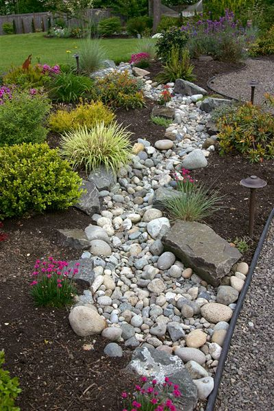 dry creek bed for drainage - Google Search