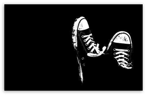 Sneakers Black And White HD desktop wallpaper High