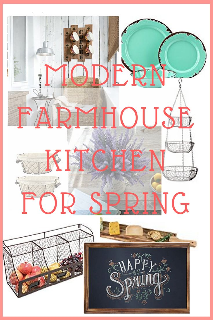 Change your theme up this spring in your kitchen and dining with Modern Farmhouse Decor!