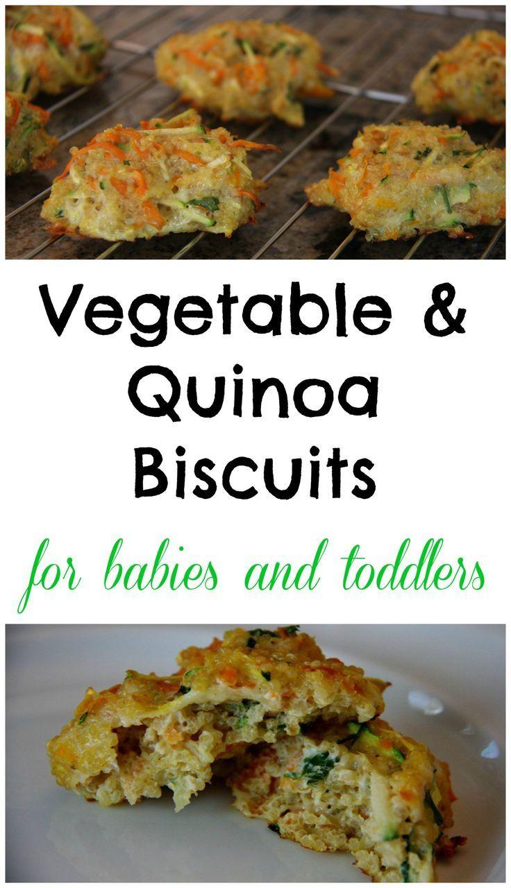 Gemüse und Quinoa Kekse für Babys Baby führte Entwöhnung   – Familienkost-Rezepte für Babys ab 8-10 Monaten und Kleinkinder