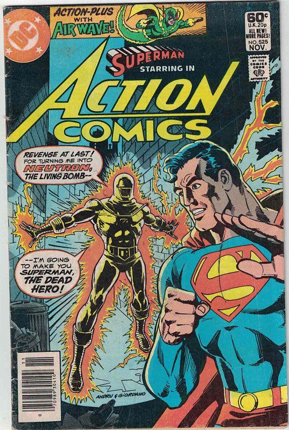 Superman Starring In Action Comics 525 Batman Comic Books Vintage Comic Books Dc Comic Books