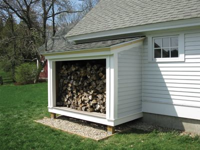 A wood storage shed is necessary if you want a wood burning fire during the cold months. It keeps your firewood stacked, dry and ready to use.