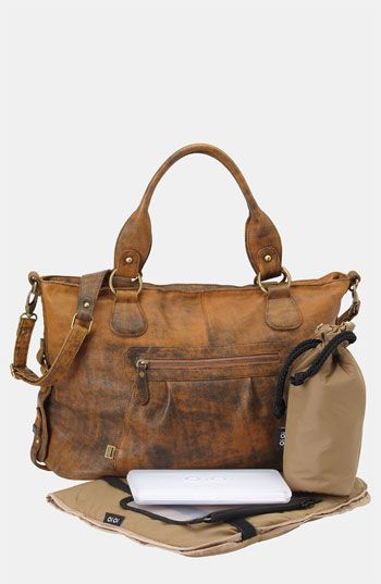 OiOi 'Jungle' Leather Diaper Bag available at Nordstrom