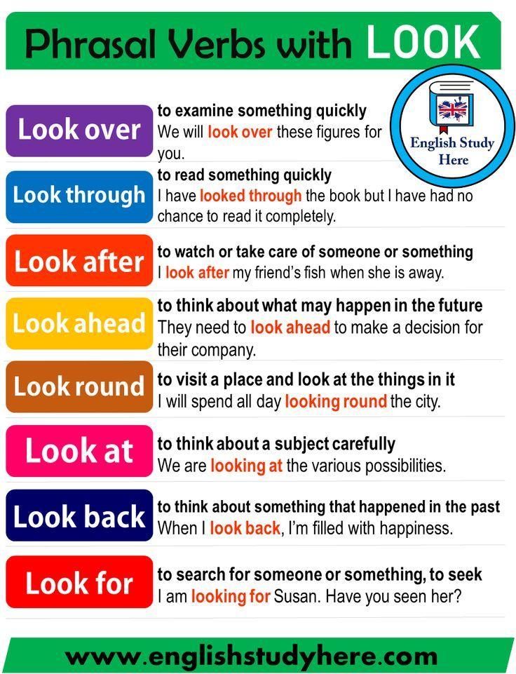 Verbos De Frases Com Look Frases Verbos English Grammar