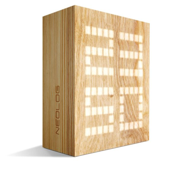 Stylish LED Wood Clock Cool Product Design, Product Development, Engineering, Manufacturing, Protoyping
