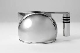 Art Deco Stainless Steel Teapot. @designerwallace: Teas Time, Teas Pots, Silver Teapots, Sterling Silver, Teapots And, Bauhaus Design, Art Deco, Teapots Teacups, Steel Teapots