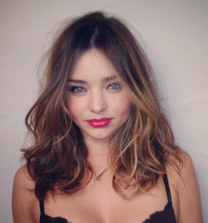 i want this..if only i was brunette!: Mirandakerr, Miranda Kerr, Haircuts, Haircolor, Hairs, Hair Cut, Beautiful, Red Lips, Hair Color