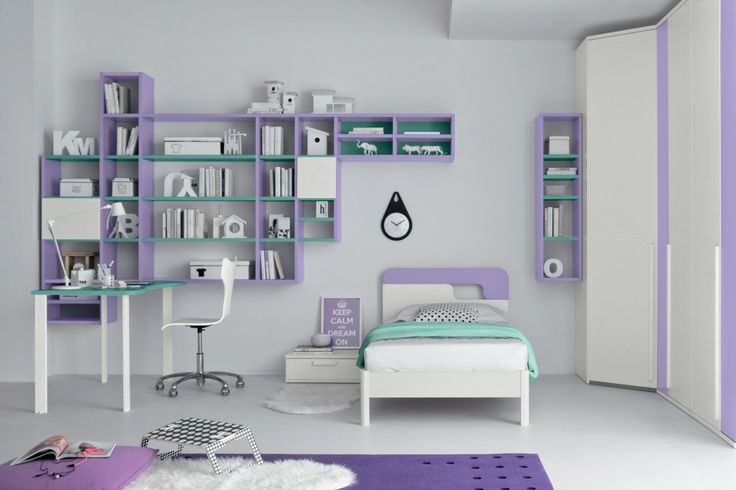 Lilac bedroom for kids  | Colombini Casa