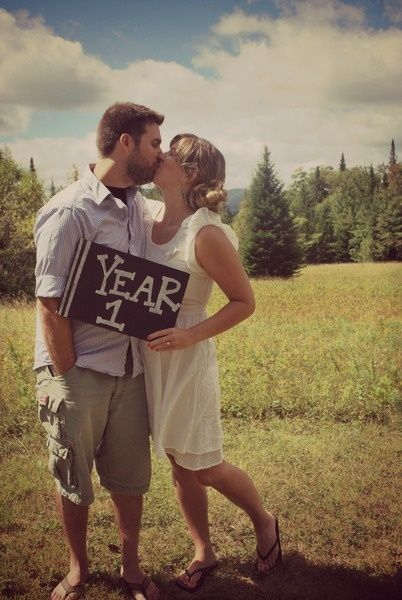 What a great idea. Take a picture every year on your anniversary. If you could d
