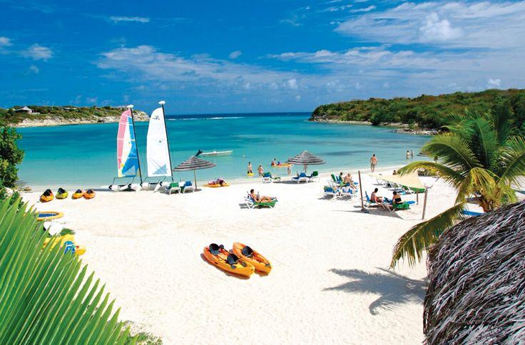 Fun white sand beach